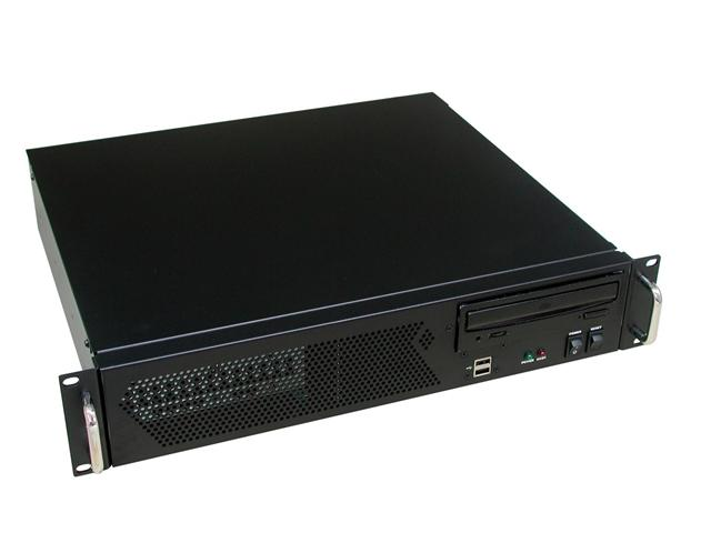 RM-2255 13.9 in. 2U Micro ATX Rackmount Case (Fits PS2 Power Supply)