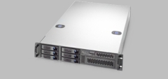 RM21706TG3-500L - 2U 6 Hot-Swappable Hard Drive Trays with 500W Server Chassis