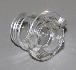 Dash Indicator Lens, Clear (for use with LED lamps), 7358672-4