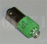Green LED Bulb (28 Volt) Replaces 313 / 1829 (For Indicator Lights/Use With Clear or Green Lens), 12360890-3UG