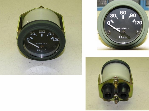 Pressure Gauge 0-120 PSI, MS24540-2