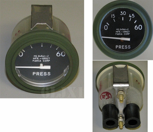 Pressure Gauge 0-60 PSI, MS24541-2 Faria