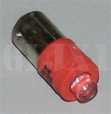 Red LED Bulb (28 Volt) Replaces 313 / 1829 (For Indicator Lights/Use With Clear or Red Lens), 12360890-1UR