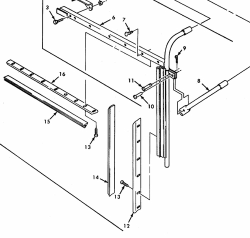 Right Door Window Rear Section Weather Seal, 7372721