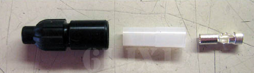 Rubber Shell Connector w/ Ribbed Shell (qty 1) MS27144-3