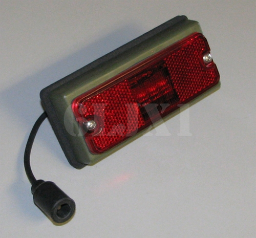 Side Clearance Light (Low Profile) LED Red Lens, 12422657-002