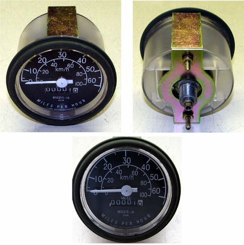 Speedometer 0-60 MPH / 0-100 KMH, M10215-1A (Clark Brothers)