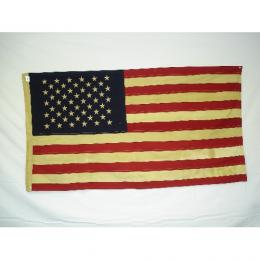 "Tea Stained American Flag - Small 17"" x 28"" Cotton"