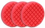 3 Pack Cobra Cross Groove™ 6.5 Inch Red LSP Finishing Pads