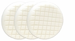 3 Pack Cobra Cross Groove™ 6.5 Inch White Polishing Pads