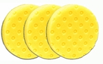 3 Pack - Yellow Cutting CCS Smart Pads™ DA 5.5 inch Foam Pads