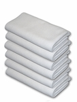 6 Pack Arctic White Edgeless Microfiber Polishing Cloths