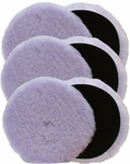 6 Pack Foamed Wool 6.5 inch x 3/4 Inch Polishing & Buffing Pads