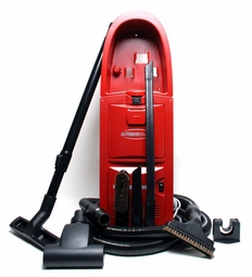 Autobahn Wall Mount 5.0 HP Garage Vacuum <font color=red><b>RED</b></font>