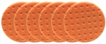6 Pack -Orange Light Cutting CCS Smart Pads™ DA 6.5 inch Foam Pads