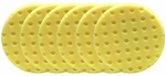 6 Pack - Yellow Cutting CCS Smart Pads™ DA 6.5 inch Foam Pads