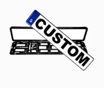 CUSTOM Sweden EEC License Plate & Euro Plate Frame
