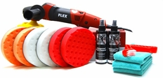 Flex PE14-2-150 Rotary Polisher 6.5 Inch CCS Pad Kit