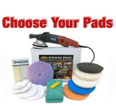 FLEX XC3401 VRG Dual Action 7.5 inch Curved Edge Pad Kit - Choose Your Pads!