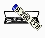 Great Britain EEC License Plate & Euro Plate Frame