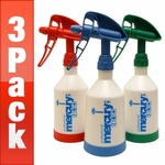 Kwazar Mercury Pro + 0.5 Liter Spray Bottles (17 oz.) - 3 Pack