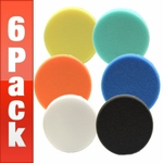 Lake Country 5 1/2 Inch Flat Pads 6 Pack - Your Choice!