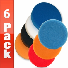 Lake Country 6.5 FLAT Pads 6 Pack - <font color=red>Choose your own pads!</font>