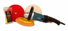 Makita 9237CX2 Rotary Polisher 8.5 inch Pad Kit <font color=red><b>FREE BONUS!</font></b>