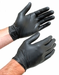 Medium Black Nitrile Gloves, Box of 100