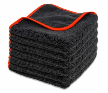 Microfiber Clean & Buff Towel, 16 x 16 inches - 6 Pack