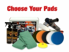 Porter Cable 7424XP & FLAT Pad Kit - Choose Your Pads! <font color=red>FREE BONUS</font>