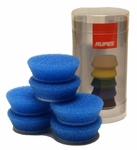 Rupes 40 mm (1.5 inch) Blue Coarse Foam Pad 6 Pack