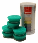 Rupes 40 mm (1.5 inch) Green Medium Foam Pad 6 Pack