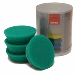 Rupes 70 mm (2.75 inch) Green Medium Foam Pad 4 Pack