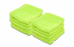 Super Soft Deluxe Green Microfiber Towels with Rolled Edges, 12 Pack