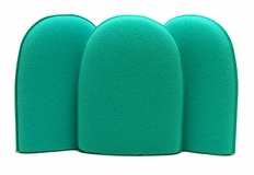 Green Medium Flex Foam Finger Pockets - 3 Pack <strong> <font color=red> ON SALE! </strong> </font>