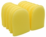 Yellow Aggressive Flex Foam Finger Pockets - 12 Pack
