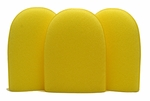 Yellow Aggressive Flex Foam Finger Pockets - 3 Pack
