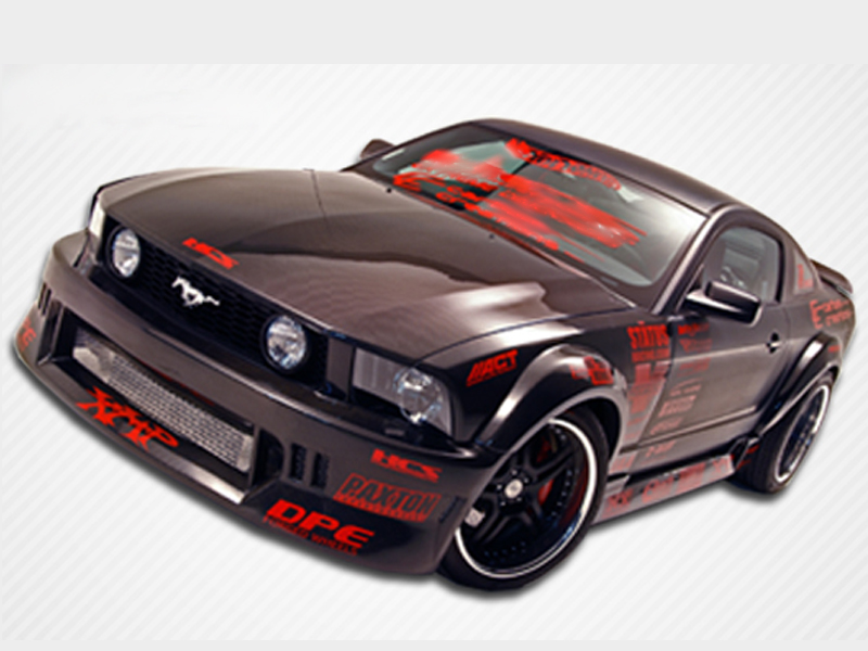 05 09 Ford Mustang Hot Wheels Widebody Complete Body Kit