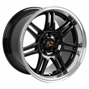 "17"" Fits Ford� Mustang� 10th Anniv. Deep Dish Wheels - Black 17x10 / 17x9 SET"