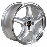 "17"" Fits Ford� Mustang� 4-Lug Cobra R Deep Dish Wheels - Silver 17x8 SET"