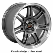 "17"" Ford� Mustang� 10th Anniv. Deep Dish Wheels Gunmetal 17x10 / 17x9 SET"