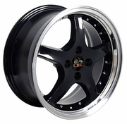 "17"" Ford� Mustang� 4-Lug Cobra R Deep Dish Wheels - Black"