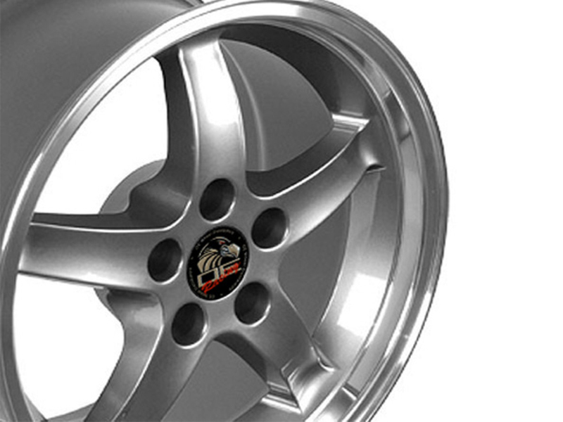 cobra wheels dish deep mustang anthracite ford 17x9 chrome