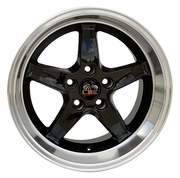 "17""  Ford� Mustang� Cobra R Reproduction Styled Deep Dish Wheels - Black"