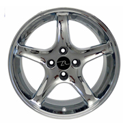 17x8 Chrome R Cobra Replica Rim (87-93)
