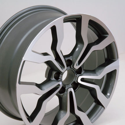 "18"" Fits Audi R8 Replica Wheels - Gunmetal With Machined Face 18x8 SET"