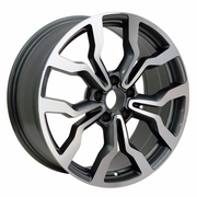"18"" Audi R8 Replica Wheels Gunmetal With Machined Face 18x8 SET"