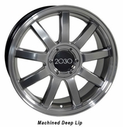 "18"" Audi RS4 Deep Dish wheels - Hyper Silver 18x8 SET"