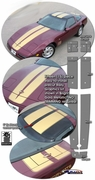 1984-1996 Chevrolet Corvette C4 Rally Stripe Graphic Kit 1